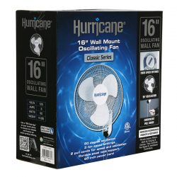 Hurricane Classic Wall Mount Oscillating Fan 16""