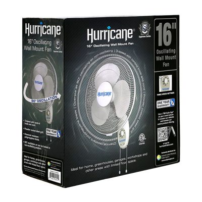 Hurricane® Supreme Oscillating Wall Mount Fan