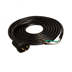 Male Lock & Seal Cord, 15', 600V, AWG 16/3, UL