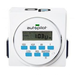 Autopilot Dual Outlet 7 Day Grounded Digital Programmable Timer