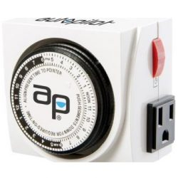 Autopilot Dual Outlet Analog Grounded Timer